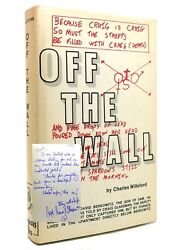 Charles Willeford - Craig Glassman Off The Wall Signed 1st 1st Edition 1st Print
