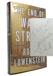 Roger Lowenstein The End Of Wall Street Signed 1st 1st Edition 1st Printing