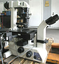 Nikon Te-dh100w Microscope With Accessories For Parts/ Repair