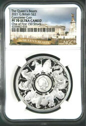 2021 Uk Queen's Beasts Completer 1oz Silver Ngc Pf70 Uc One Of First 150 Struck