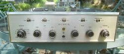 Scott 200-b Integrated 6gw8 Ecl86 Tube Amp - Restored And Fully Tested