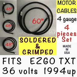 Motor Battery Cables Ezgo Series Golf Cart Battery Cable 4 Pieces Set Txt 36 V