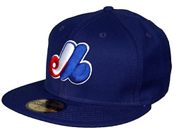 Montreal Expos New Era Navy Authentic Collection Onfield Road 59fifty Fitted Hat