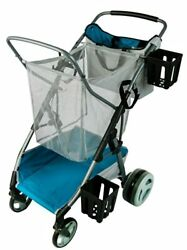Beach And Field Utility Compact Folding Cart - All-terrain Oversized Wheels For