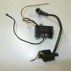 Oem Husqvarna Ignition, Coil And Module, Tested, Black, 3/16 Terminal, 266 61 66