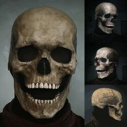 Halloween Skull Mask Full Head Helmet With Movable Jaw Horror Party Pro Scary US $14.11