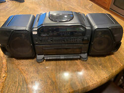 Vintage Fisher Ph-d9000 Boombox Dual Cassette/cd Player Needs Repair Read