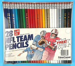 28 Nfl Team Pencils From Fabercastelll Circa 1970's