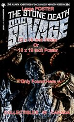Doc Savage 194 Fantasy Cover Stone Death = Poster Book 3 Sizes 17-18-19