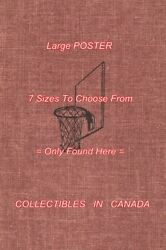 Chip Hilton 1957 Basketball Hoop And Backboard = Poster Book Cover 8 Sizes 17-3ft