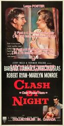 Clash By Night 1952 Douglas Stanwyck Marilyn Monroe =poster 3 Sizes 4 / 6 / 7 Ft