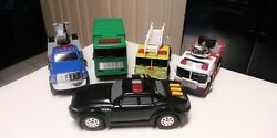 Lot Of 5 Battery Operated Toy Work Vehicles, Tonka And Others