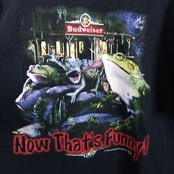 Vtg 1999 Budweiser Frogs Shirt Xl Stand Back Watch This Funny Tv Beer Promo Bud