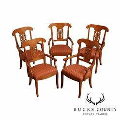 Ethan Allen Legacy Collection Set 5 Pineapple Back Dining Chairs