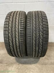 2x P235/45r18 Dunlop Conquest Sport A/s 9/32 Used Tires