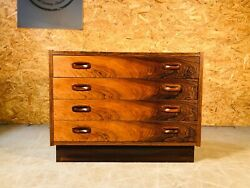 Vintage Danish Mid Century Rosewood Chest Of Drawers 1960s 1