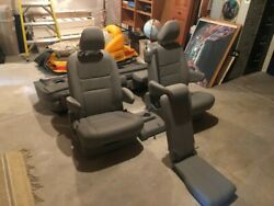 Toyota Sienna Gray Leather Seatsandnbsp Near New Complete 2nd And 3rd Row 2015-2020