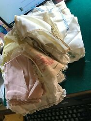 Vintage Huge Box Of Over 75 Mixed Doilies, Small Tabel Clothes, Runners