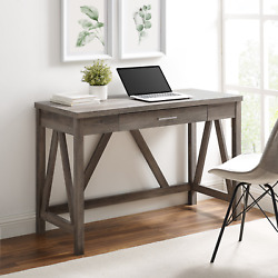 Rustic Farmhouse Computer Writing Desk High-grade Mdf And Durable Laminate New