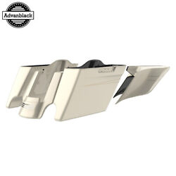 Morocco Gold Pearl Stretched Extend Saddlebags With Pinstripes For 2014+ Harley