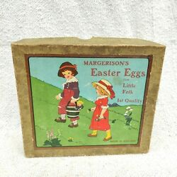 1920s Vintage Margerisons Easter Eggs Soap Rare Advertising Paper Box England