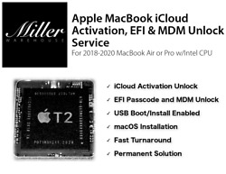 Apple Macbook Pro/air Icloud Activation, Efi, Mdm Removal And Unlock Service