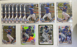 2019 1st Bowman Ronny Mauricio Lot 13 W/ Chrome And More New York Mets 2020