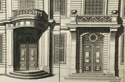 X4 Vintage Etchings By Daniel I Marot 1663-1752, Porte Cocheres And Churches