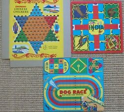 1936-38 Transogram Board Games - Chinese Checkers, Dog Race, Game Of India +more