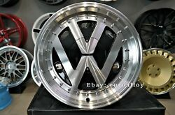 New 16 Inch 4x100 Deep Dish Jdm Rr Style Wheels For Vw Golf Caddy Jetta Lupo Old