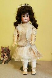Antique 24 Bisque Head Made In Germany 1912-5 Doll W/nice Antique Clothing