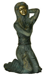 Mermaid Lady Statue Vintage Antique Style Handcrafted Brass Lady Figure Figurine