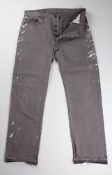 Levi's Vintage 501 Jeans 1990s Brown 38 Fits 36 X 32 Made In Usa Paint Splatter