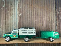 Vintage 1960's Nylint Toys, Farm Stake Truck And Livestock Trailer, Mint Cond.