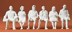 Preiser Kg - Seated Persons 6 - Unpainted - G Scale