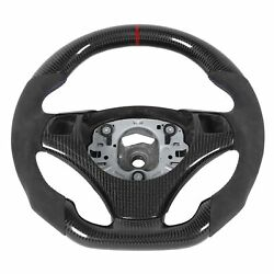 Carbon Fiber Steering Wheel Suede With Red Stripe Fit For 3 Series E90 E92 E9