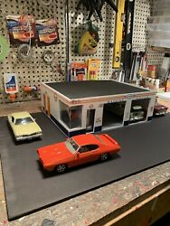 124 Scale Gulf Gas Station Diorama Hand Made Cbcustomtoys Assembaly Required