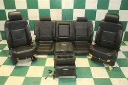 15-19 Gm Truck Crew Leather Power Manual Buckets Seats Backseat Console Jumpseat