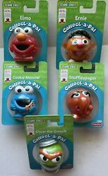 Rare 2008 Lot Of 5 Sesame Street Collect-a-pal Figures Fisher Price Unopened