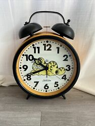 Oversized Vintage Sunbeam Garfield 1978 Hands And Dial Alarm Clock - For Parts