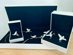 Lladro Magic Forest Set 01010067 Necklace Gold-plated 18k Gold On Silver