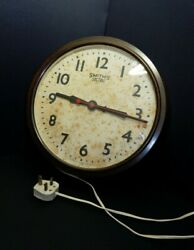 Vintage Bakelite Smith Sectric Industrial /factory / Station Retro Wall Clock