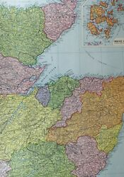 1921 Large Map Scotland Highlands North East Orkney Caithness Sutherland Nairn