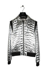 New Celine By Hedi Slimane Shiny Teddy Quilted Men Jacket Size 50it M