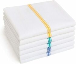 Kitchen Cotton Dish Towel, 14 X 25-inch, Multi Color, Pack Of 12
