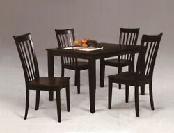 Contemporary Style Espresso Finish 5pc Dining Set Table Chair Furniture Durable
