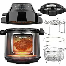 Euroto [newest 2021] Air Fryer Pressure Cooker 6.5 Qt 28 In 1 Multi-function