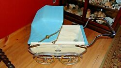 Vintage Baby Carriage Baby Doll Buggy Stroller By Coronet 1960 Great Condition