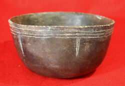 East Engraved Bowl Authentic Prehistoric Pottery