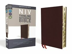Niv Thinline Reference Bible Comfort Print-burgundy Bonded Leather Indexed
